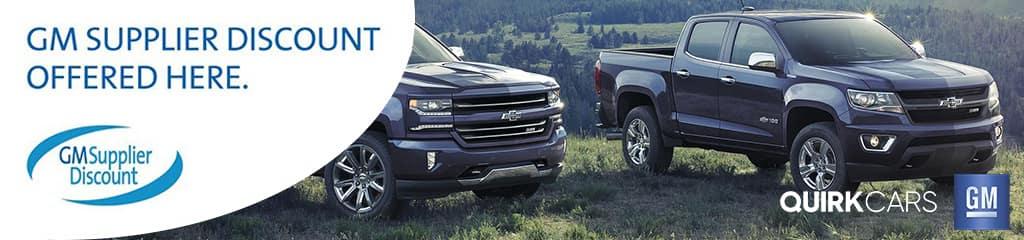 Get Your GM Supplier Disscount