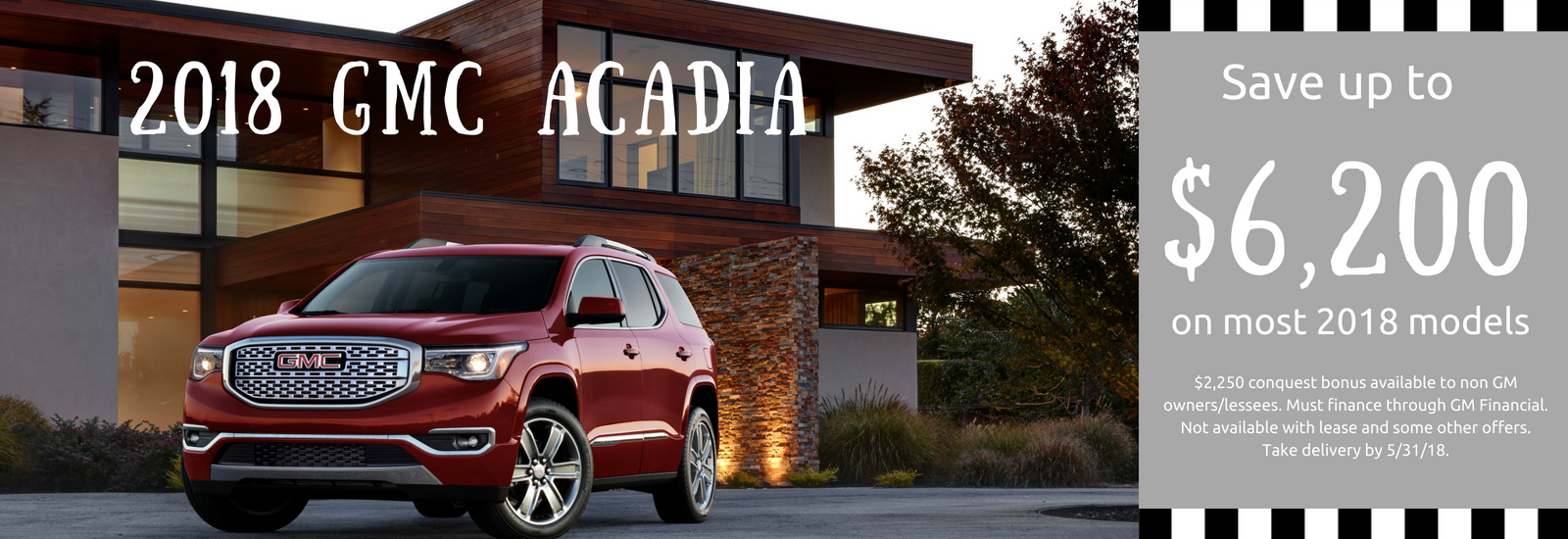 May Acadia Offer
