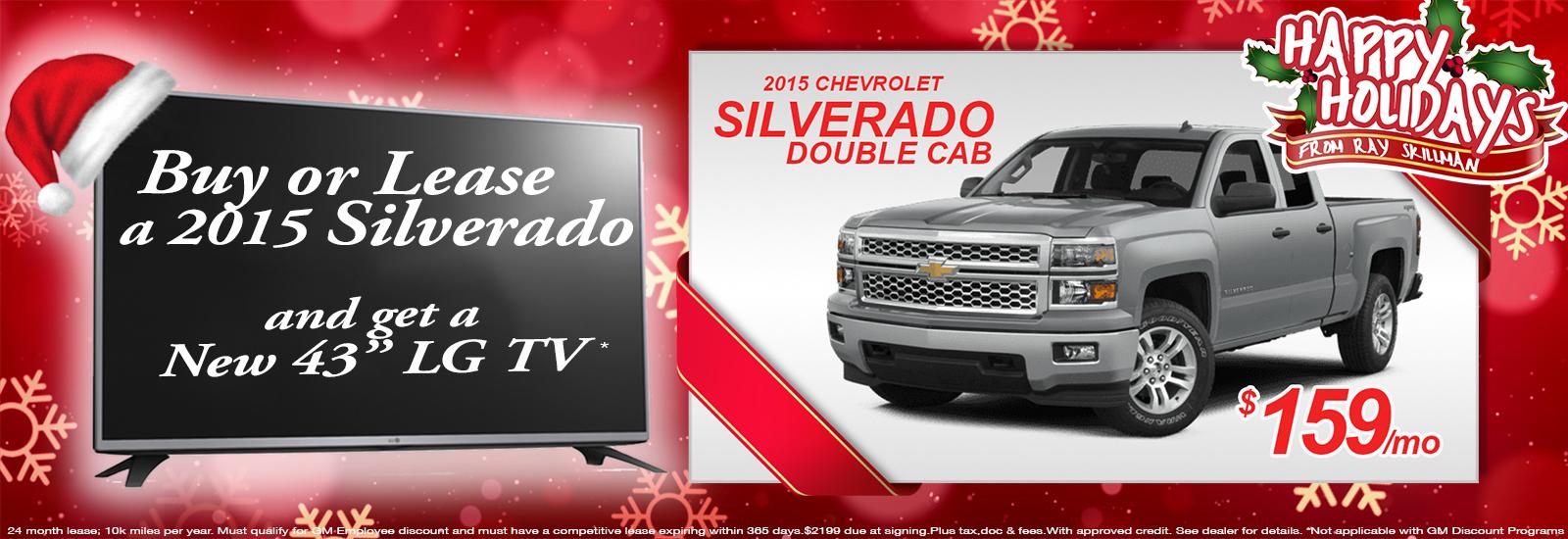 2015 Silverado Get a new TV