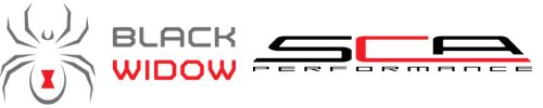 SCA Performance and Black Widow logo
