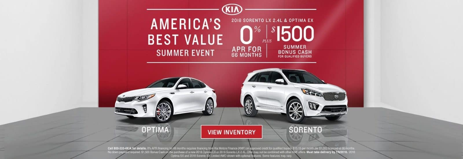 Kia Americas Best Value Sales Event - Optima Sorento