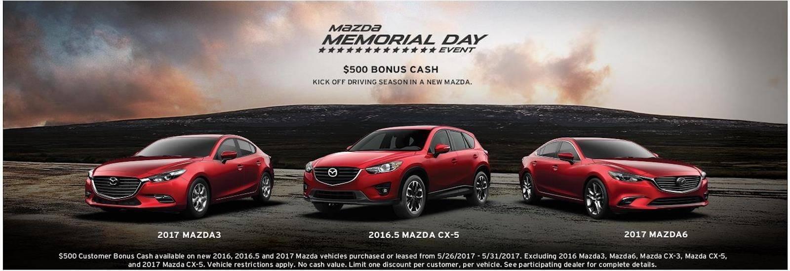 Mazda Memorial Day
