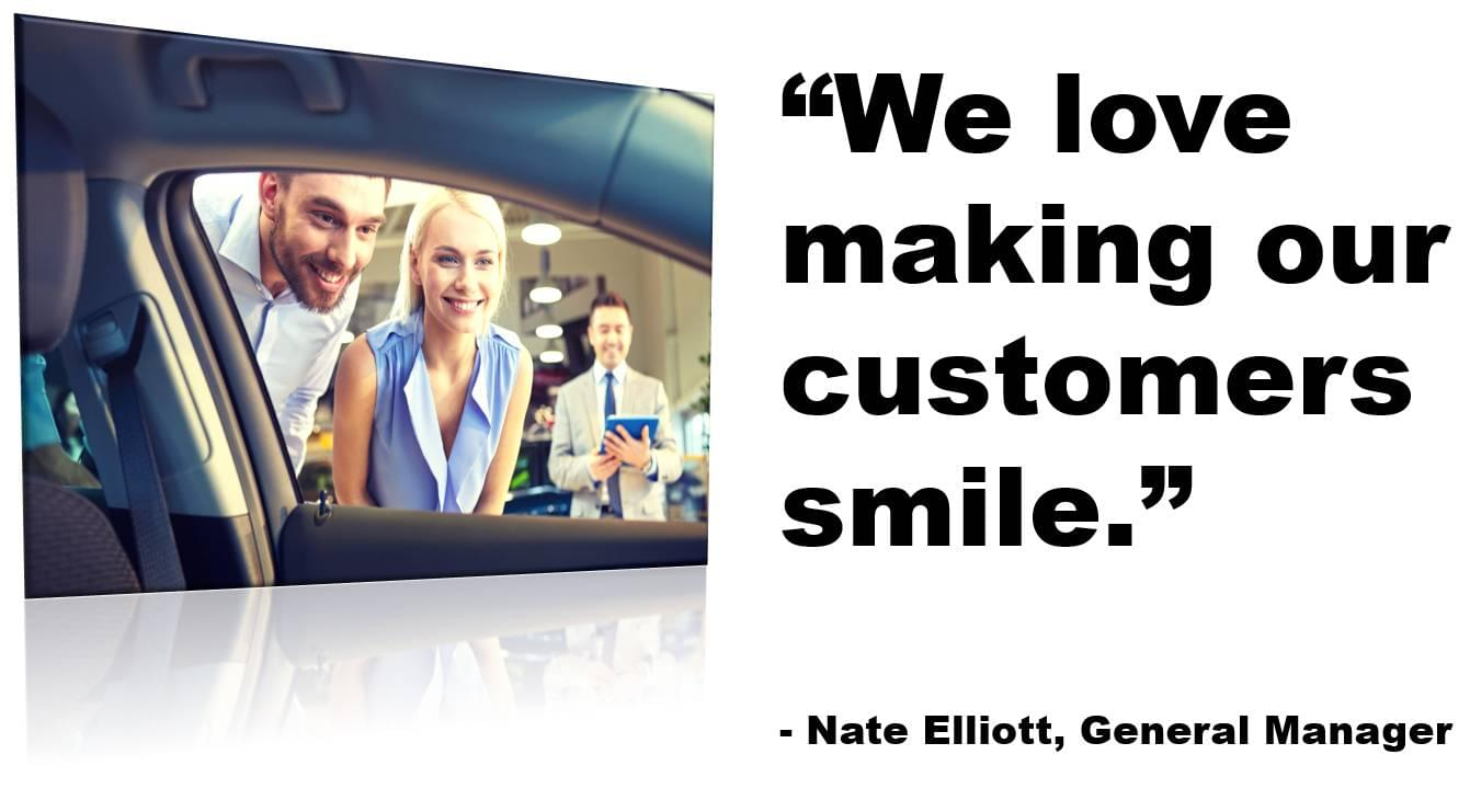 We love making our customers smile