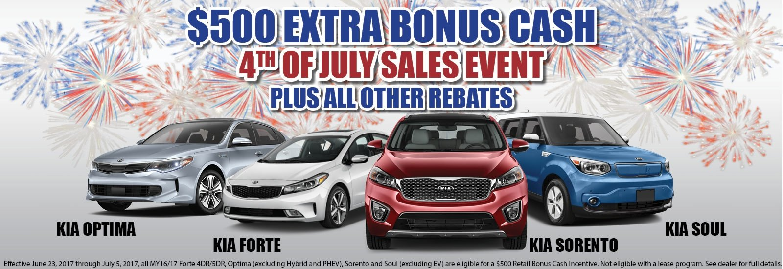 Kia 4th of July 500 updated