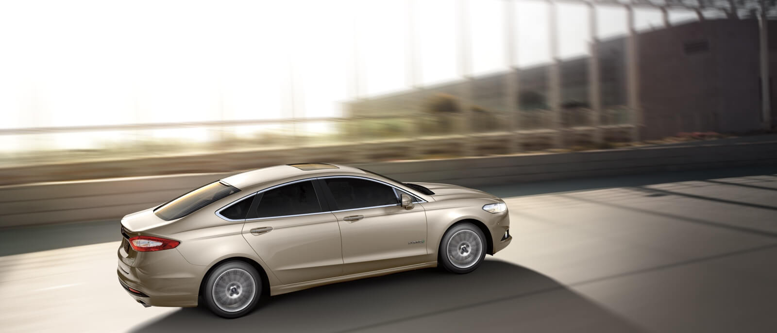 2016 Ford Fusion Hybrid on the road