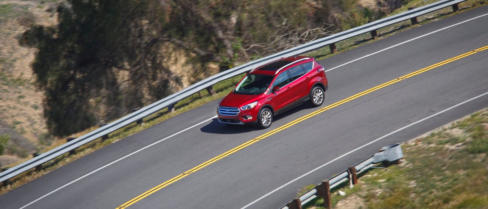 2017 Ford Escape on the road