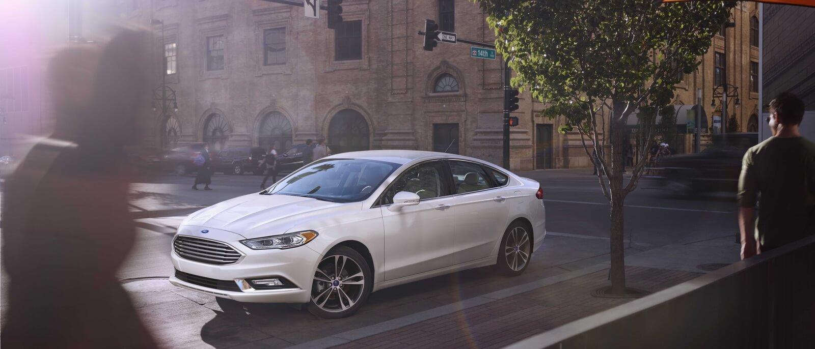 2017 Ford Fusion white exterior