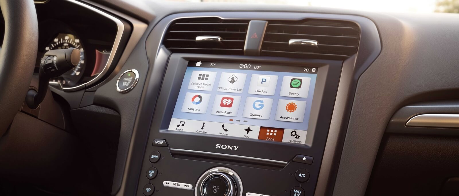 2017 Ford Fusion interior features