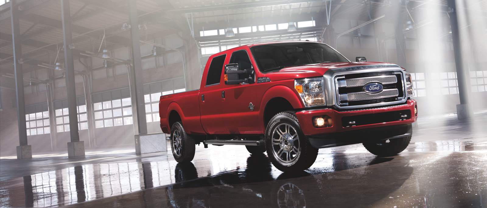 2016 Ford Super Duty red exterior