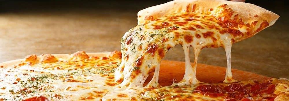 Slice of pizza from Luigi's