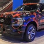 2020 Chicago Auto Show bears truck banner