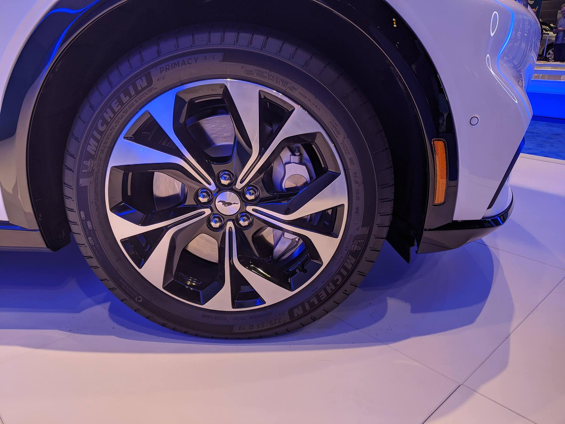 2021 Mustang Mach-E tire at the 2020 Chicago Auto Show