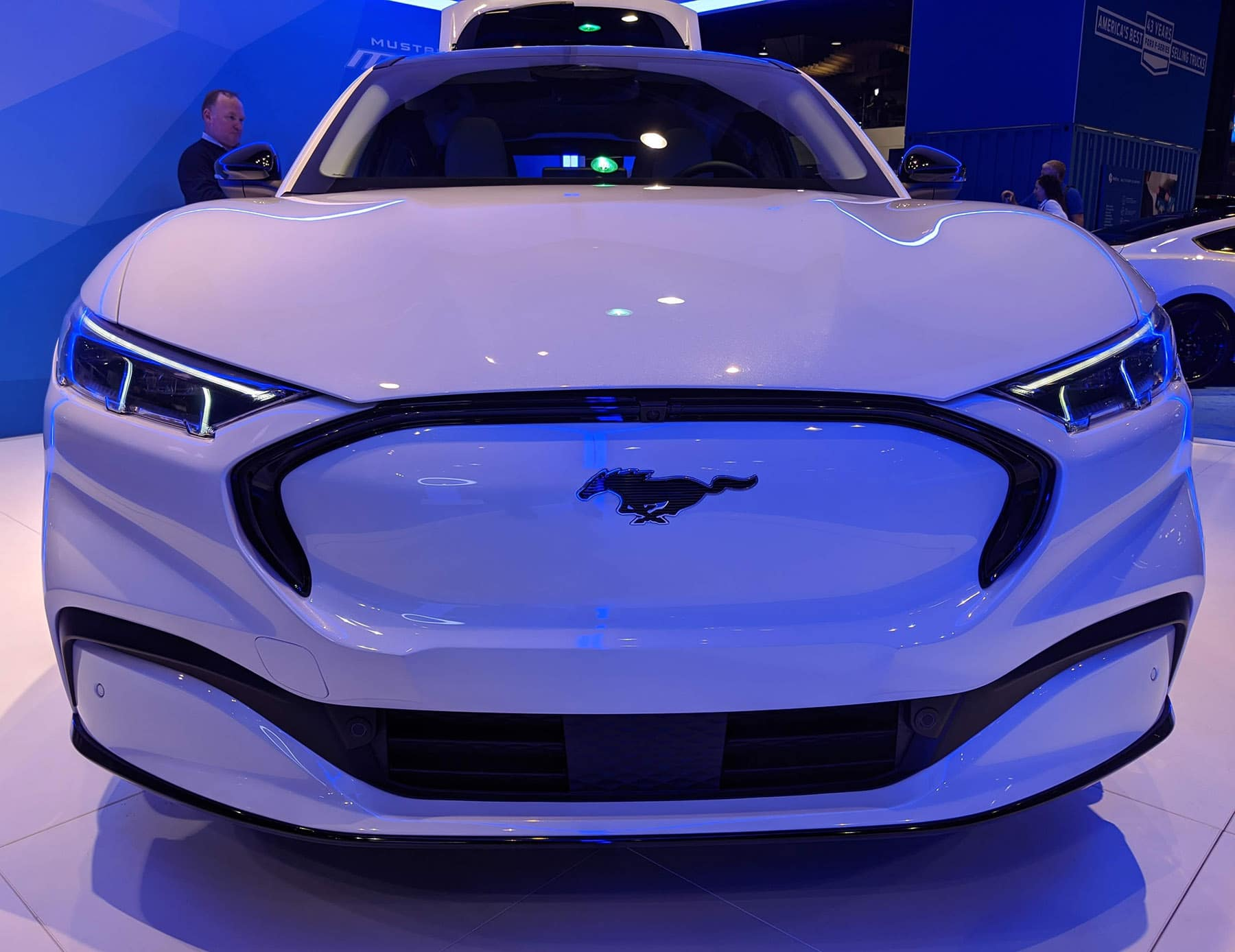 White 2021 Mustang Mach-E at 2020 Chicago Auto Show