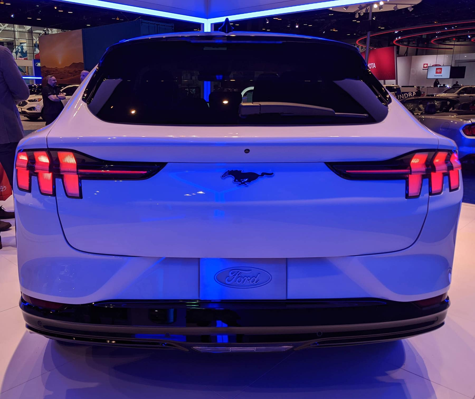 2021 Mustang Mach-E rear view at 2020 Chicago Auto Show