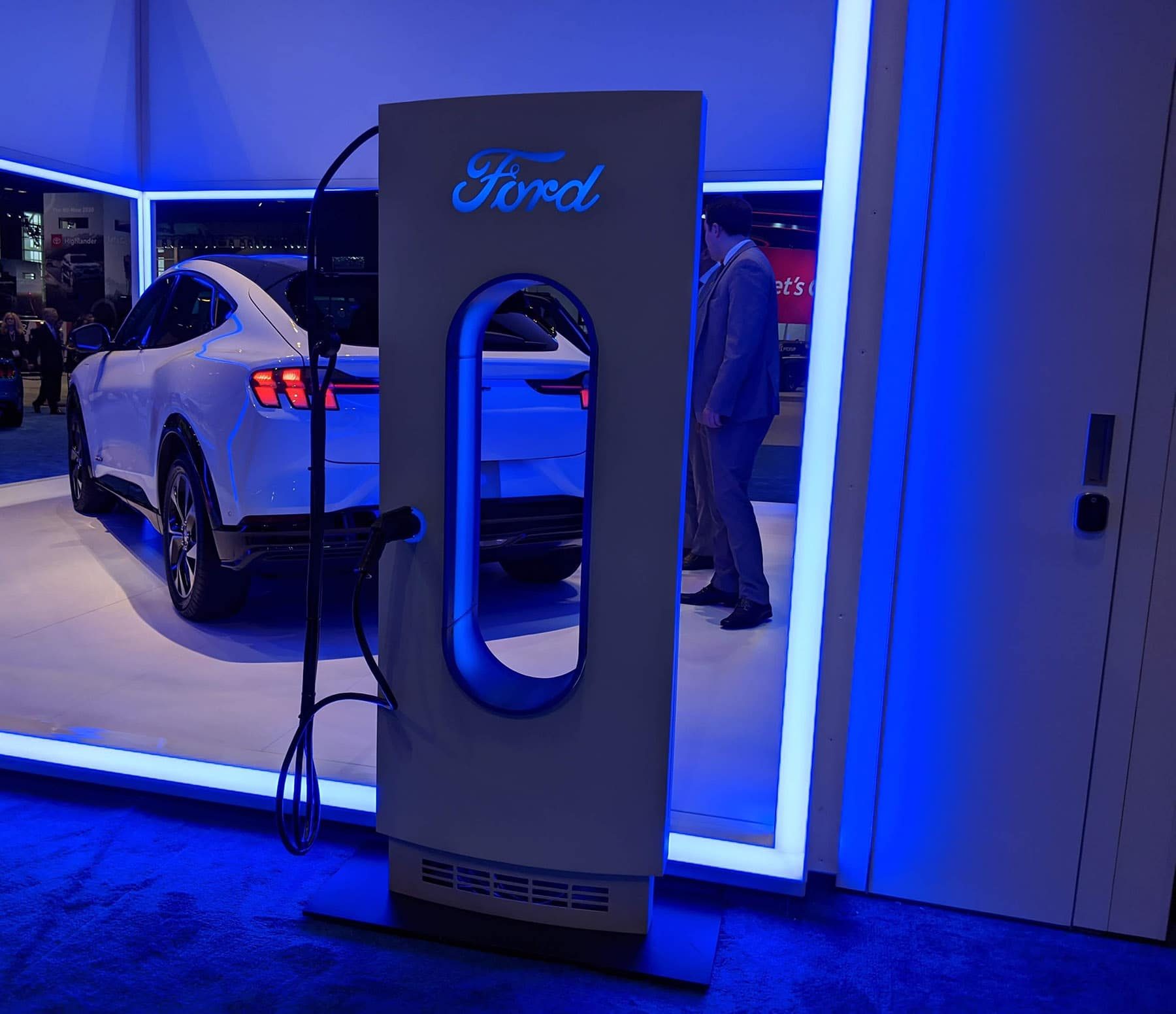 FordPass Charging Network charging station at 2020 Chicago Auto Show