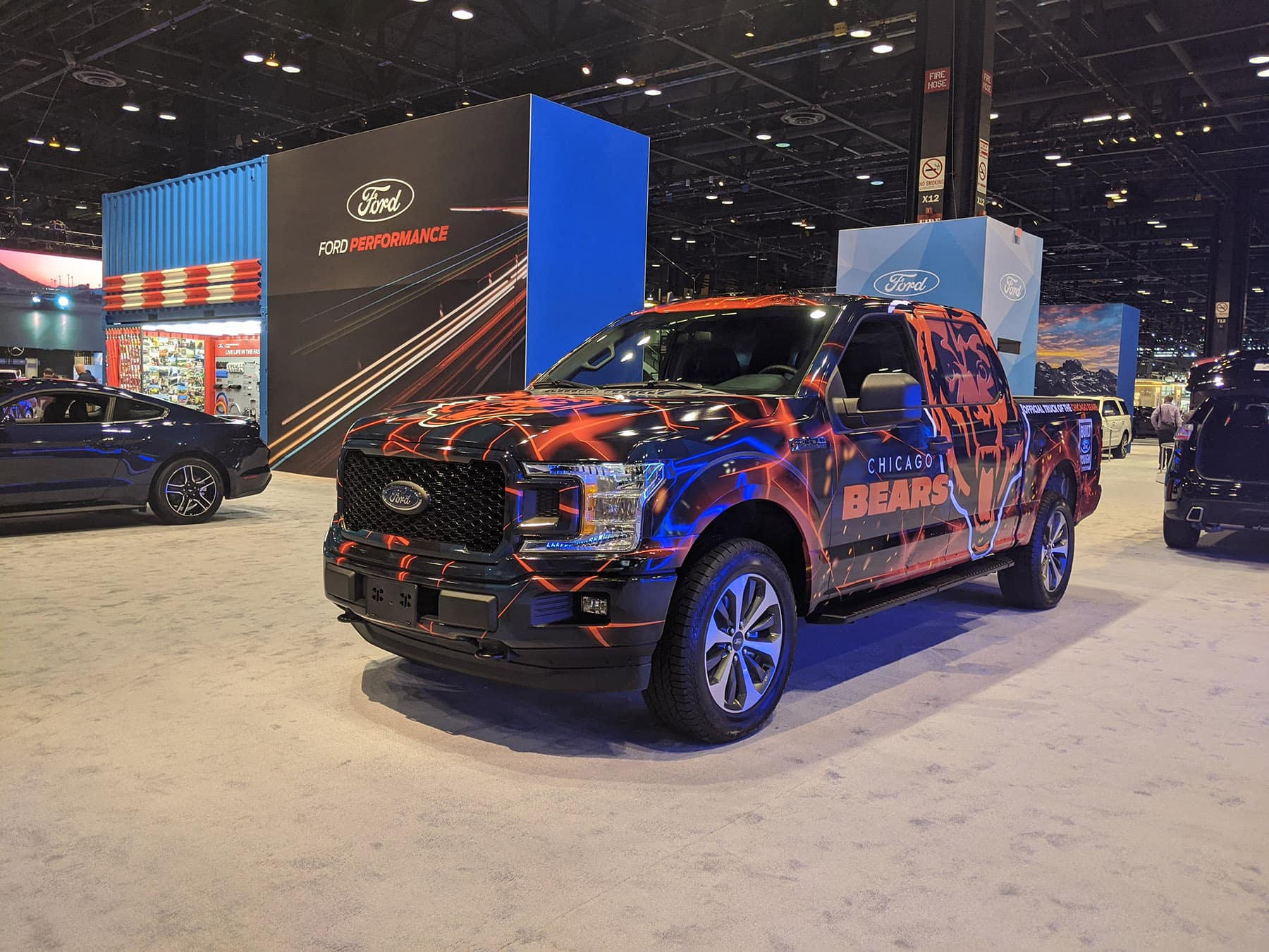 Chicago Bears Ford truck at 2020 Chicago Auto Show