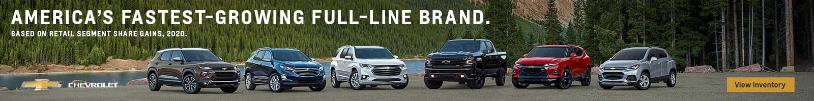 Americas Fastest Growing Full Line Brand Chevrolet View inventory