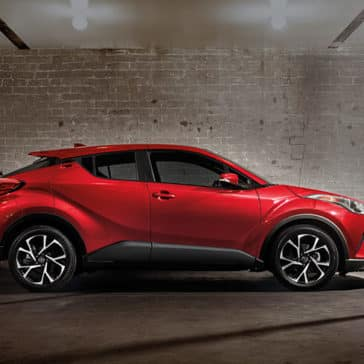2018 Toyota C-HR Ruby Flare Metallic Side view