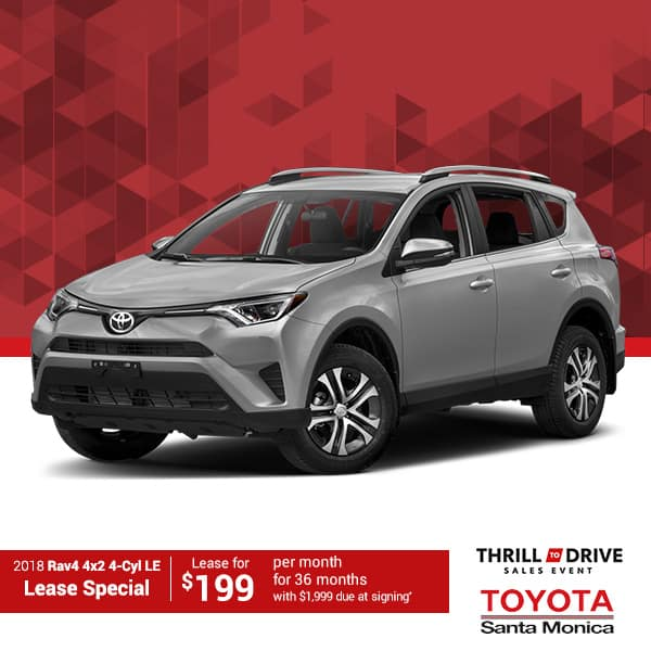 2018 RAV4 4x2 4-Cyl LE Lease Special
