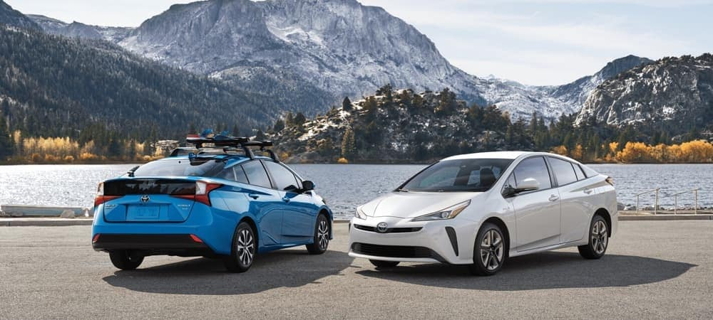 2020 Toyota Prius Models Parked