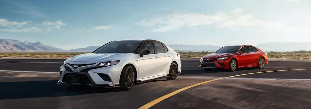 2020 Toyota Camry models taking a turn