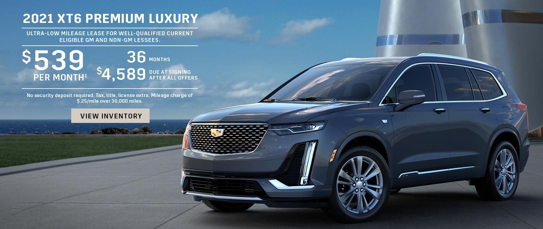 Charcoal Cadillac XT6 LEase Offer 519 dollars a month