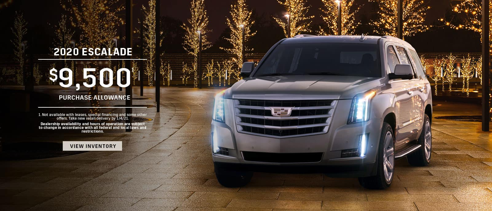 2020 Cadillac Escalade Season's Best Offer