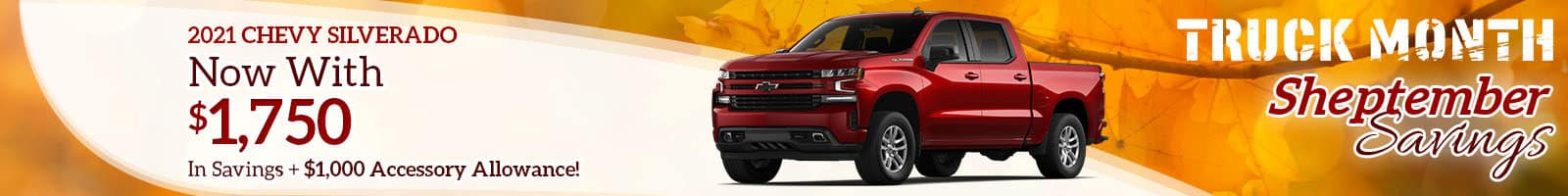 Best Rebate deal on a 2021 Chevy Silverado Near North Manchester IN