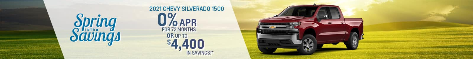 Best finance deal on a 2021 Chevy Silverado Near North Manchester IN