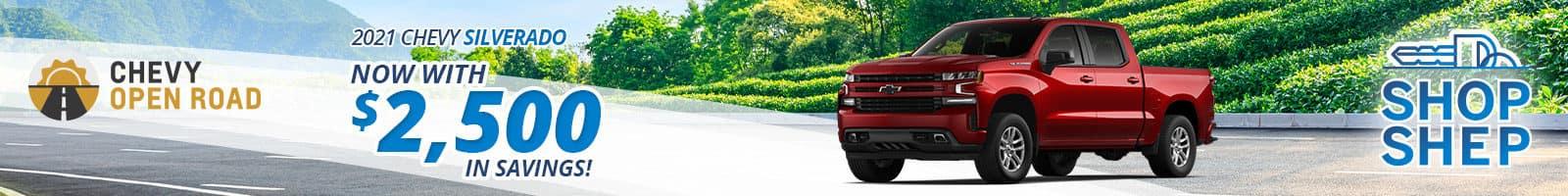 Best deal on a 2021 Chevy Silverado 1500 near Fort Wayne IN
