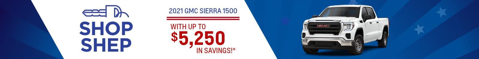 Save big on a new 2021 GMC Sierra 1500
