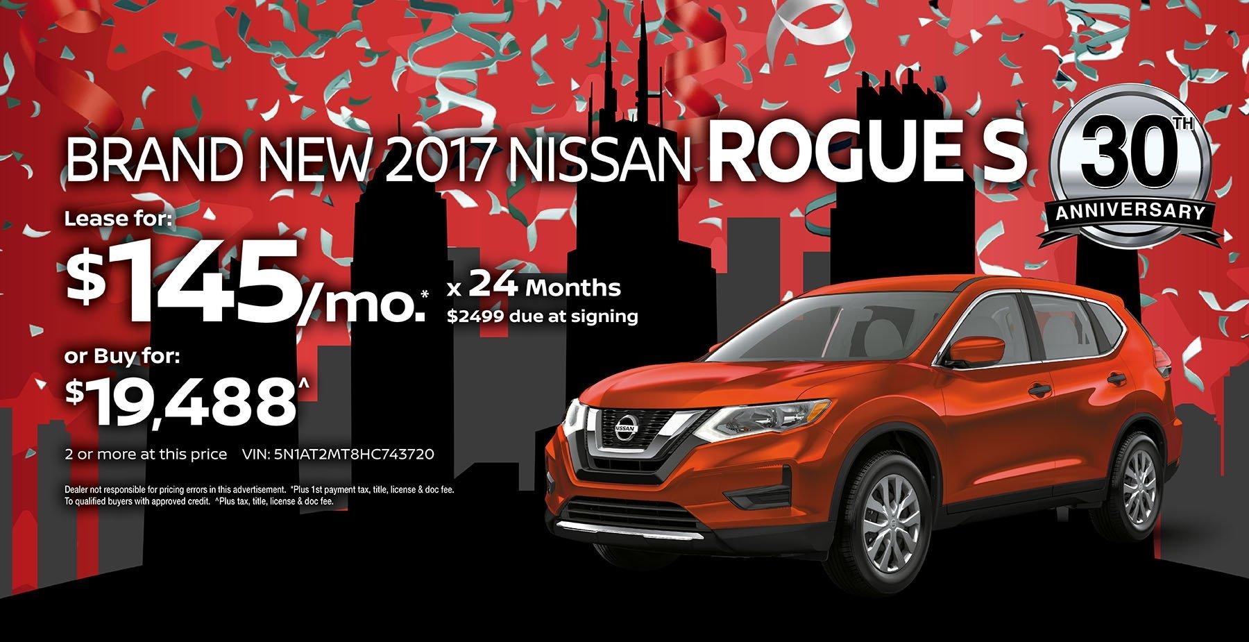 2017 Nissan Rogue June Sale at Star Nissan