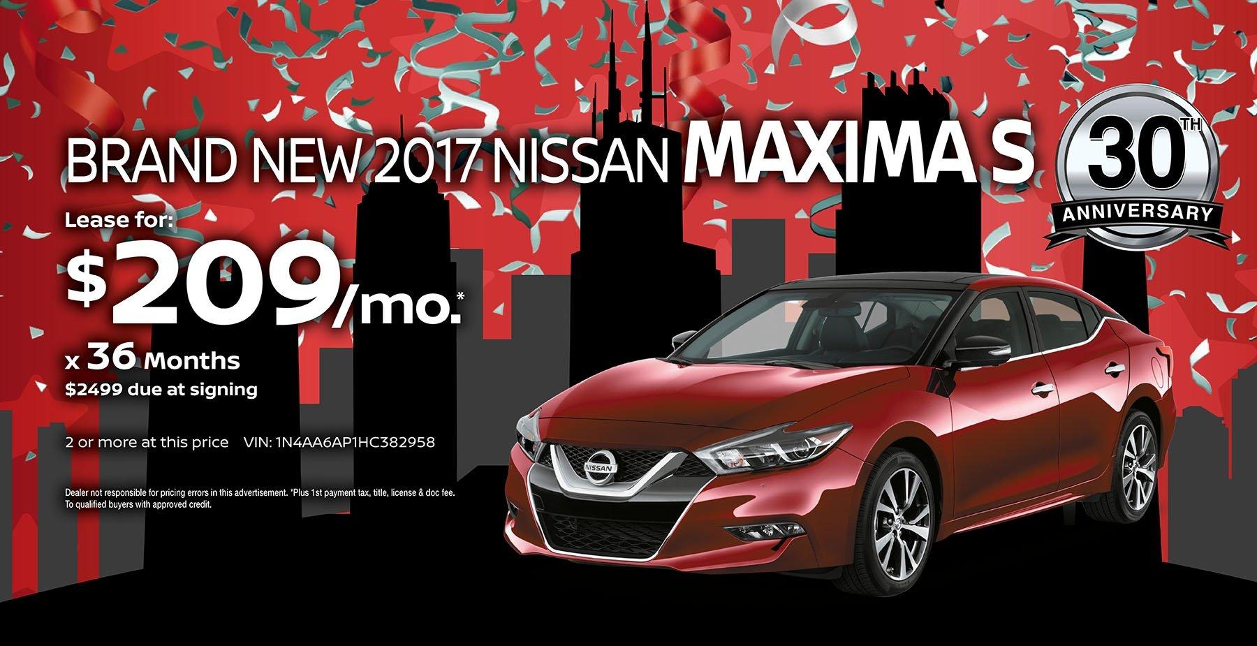 2017 Nissan Maxima June Sale at Star Nissan