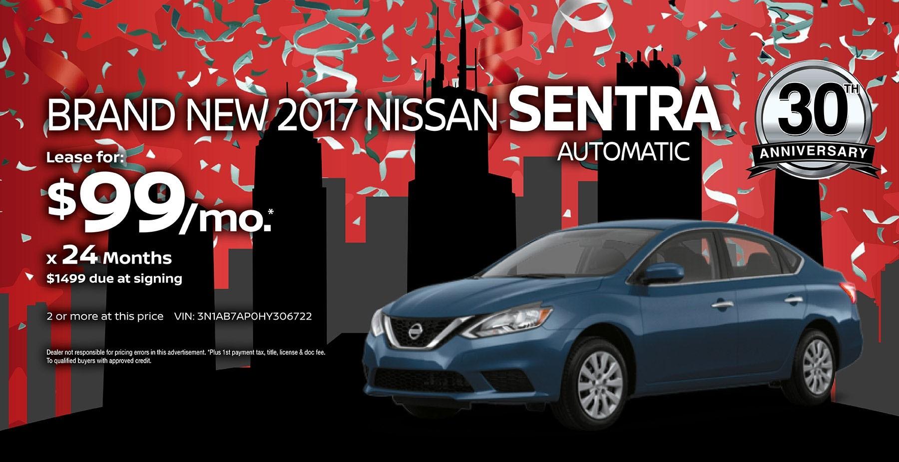 2017 Nissan Sentra July Sale at Star Nissan
