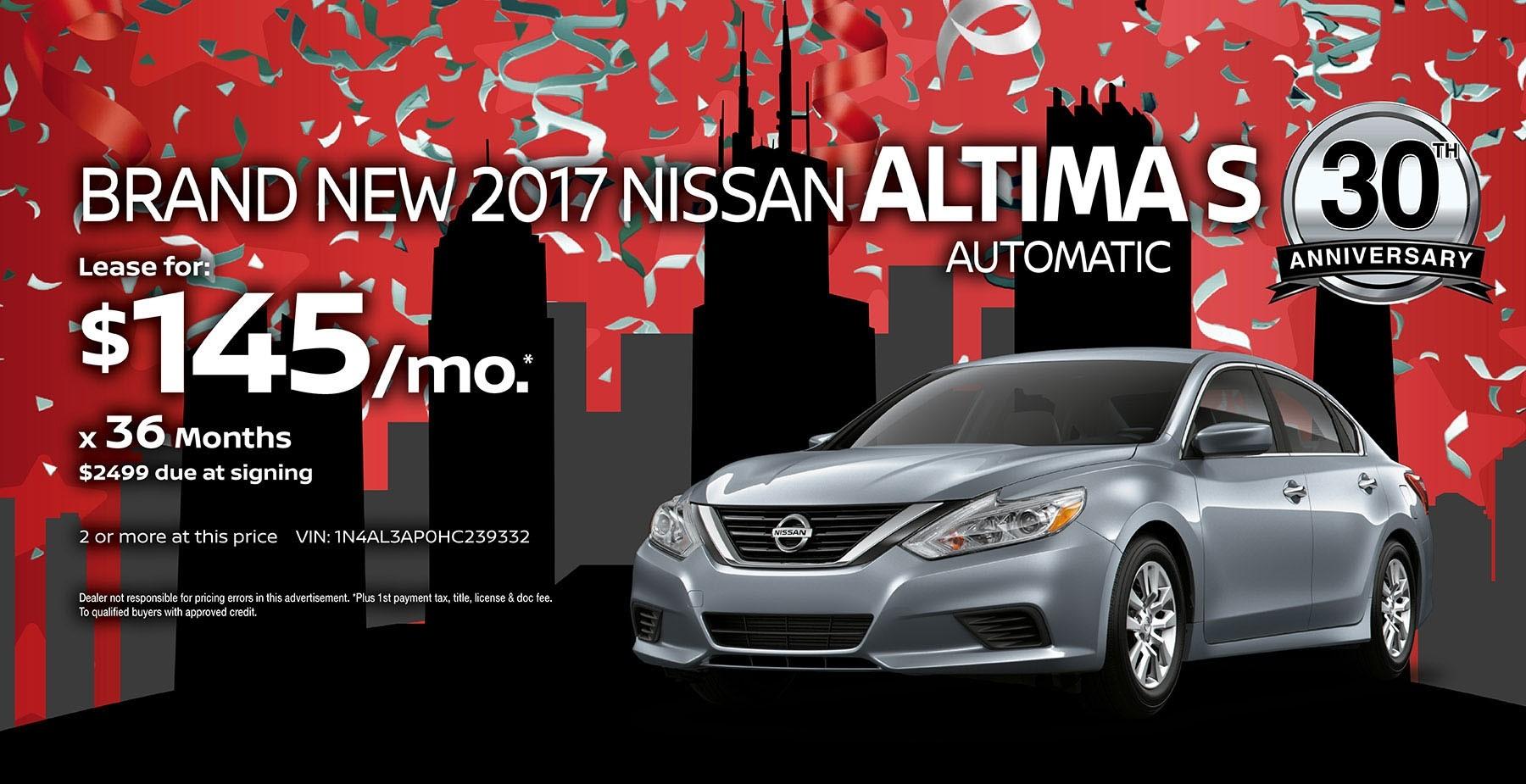 2017 Nissan Altima July Sale at Star Nissan