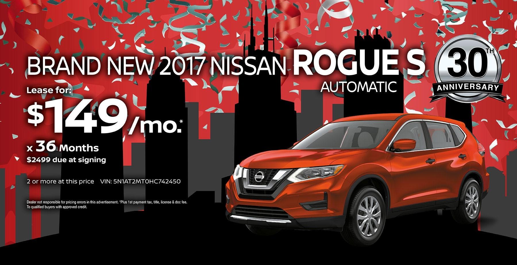 2017 Nissan Rogue July Sale at Star Nissan