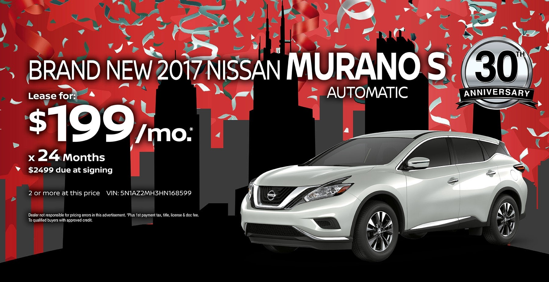 2017 Nissan Murano July Sale at Star Nissan