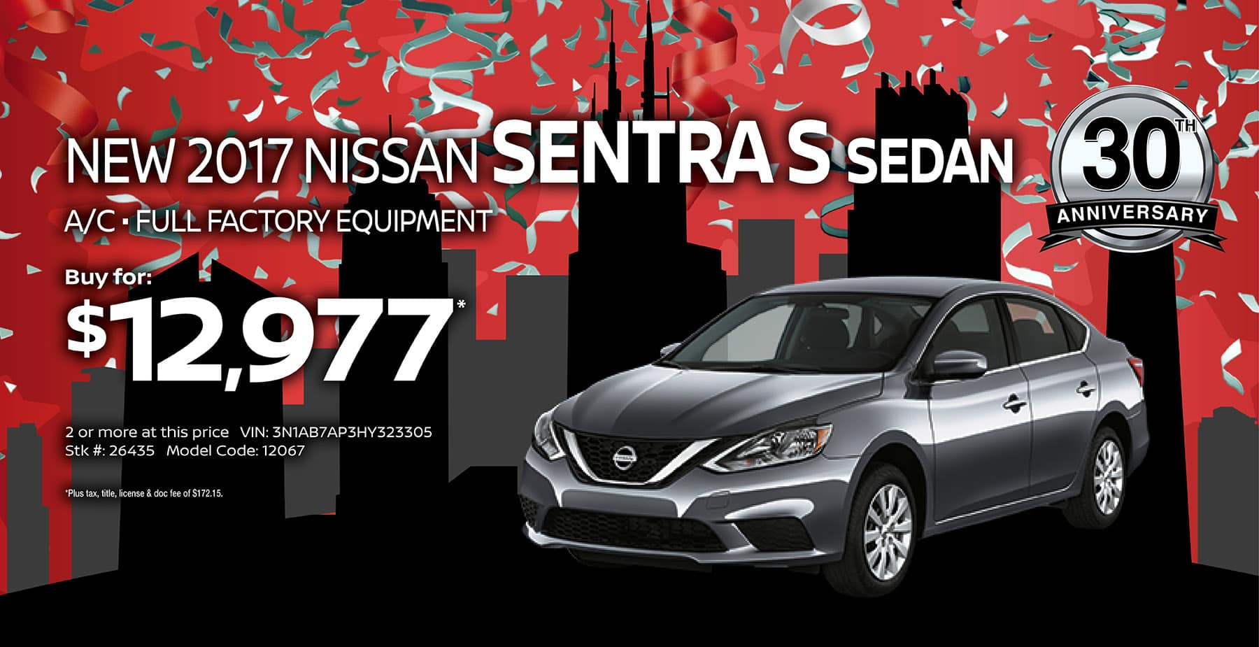 2017 Nissan Sentra September Sale at Star Nissan