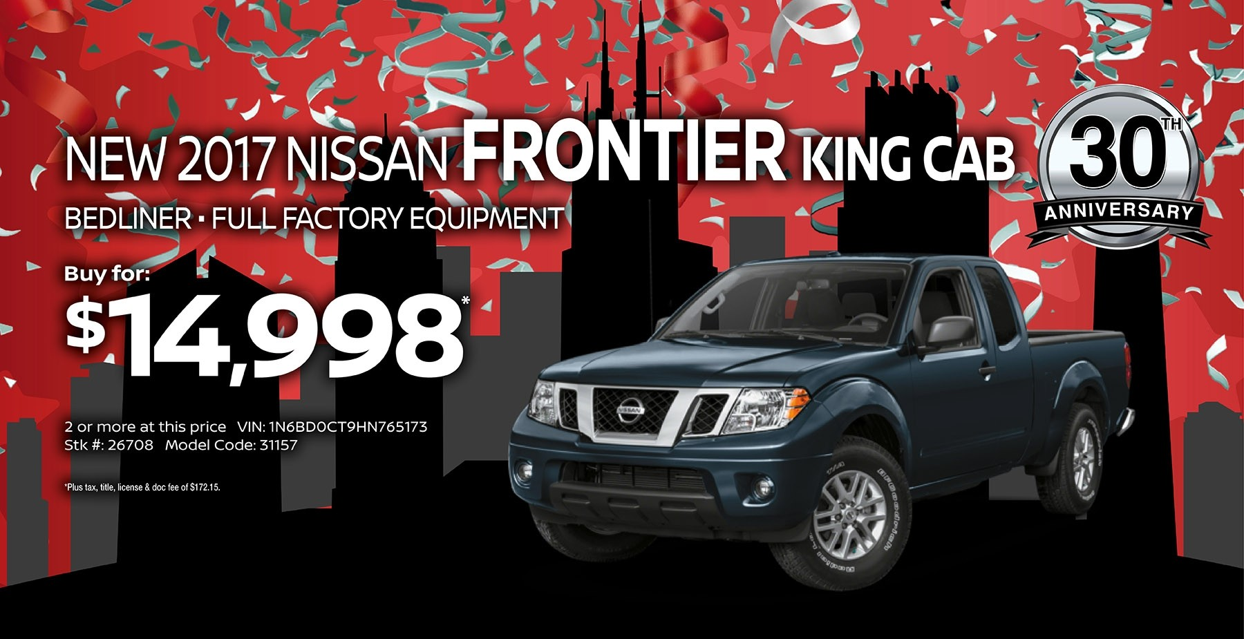 2017 Nissan Frontier September Sale at Star Nissan