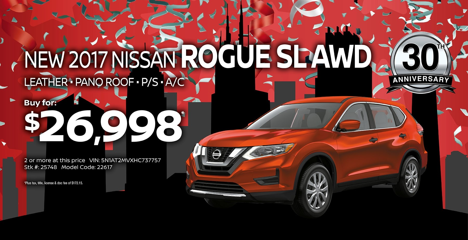 2017 Nissan Rogue September Sale at Star Nissan