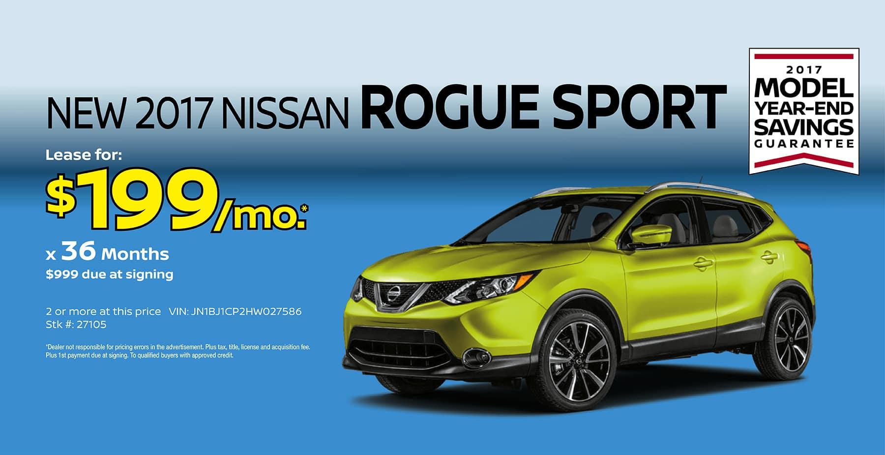 2017 Nissan Rogue Sport Lease Deals | Lamoureph Blog