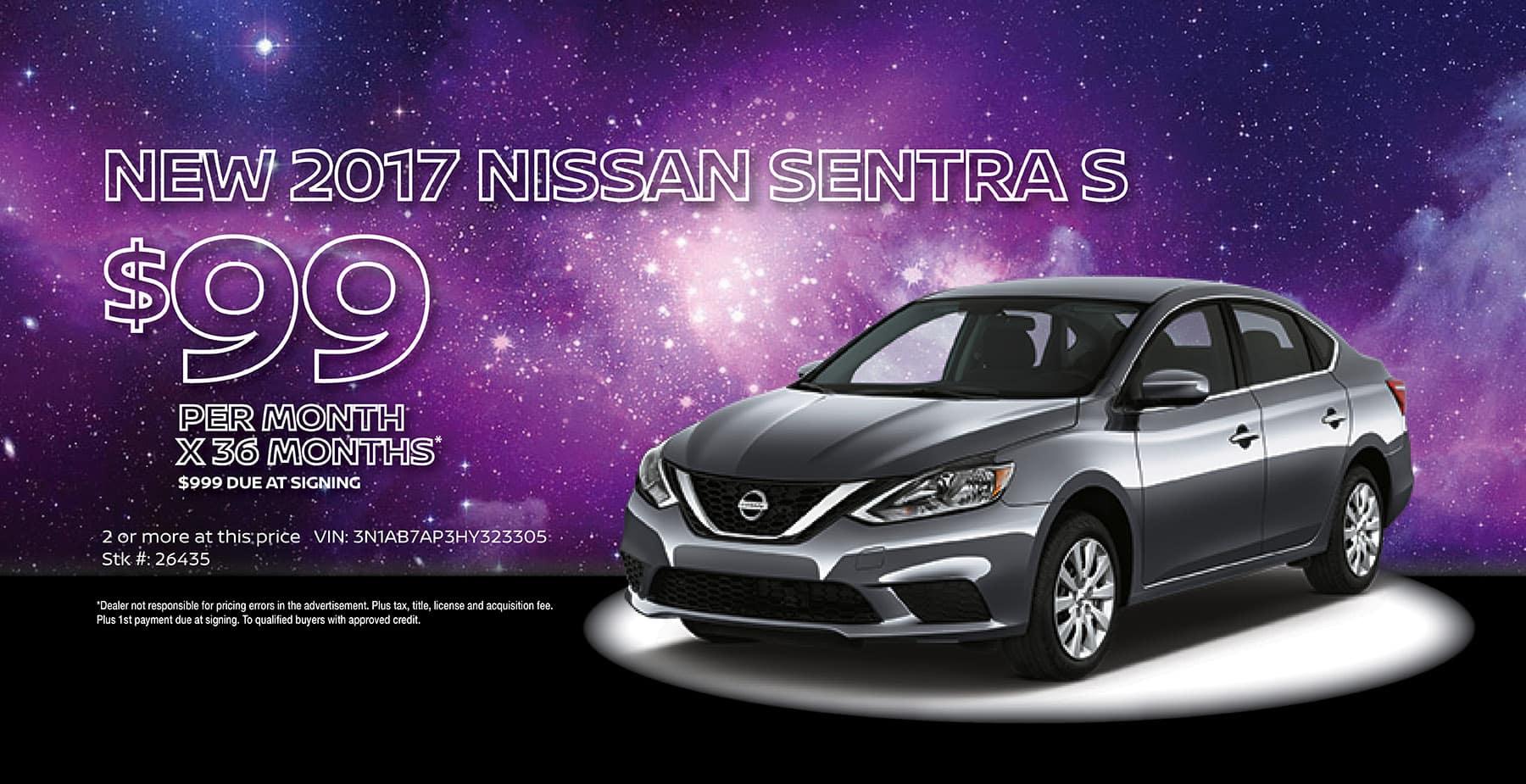 2017 Nissan Sentra December Holiday Sale at Star Nissan