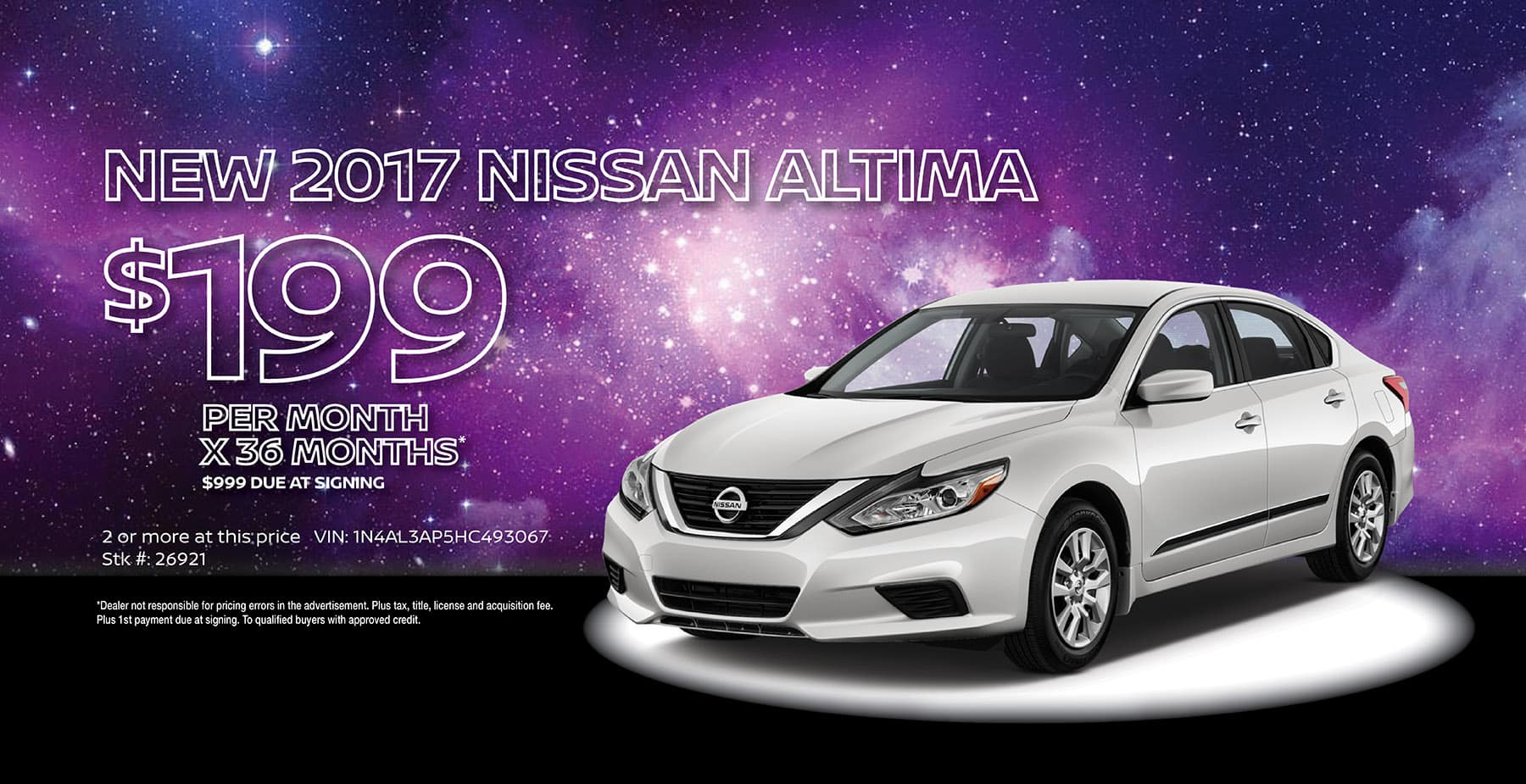 2017 Nissan Altima December Holiday Sale at Star Nissan