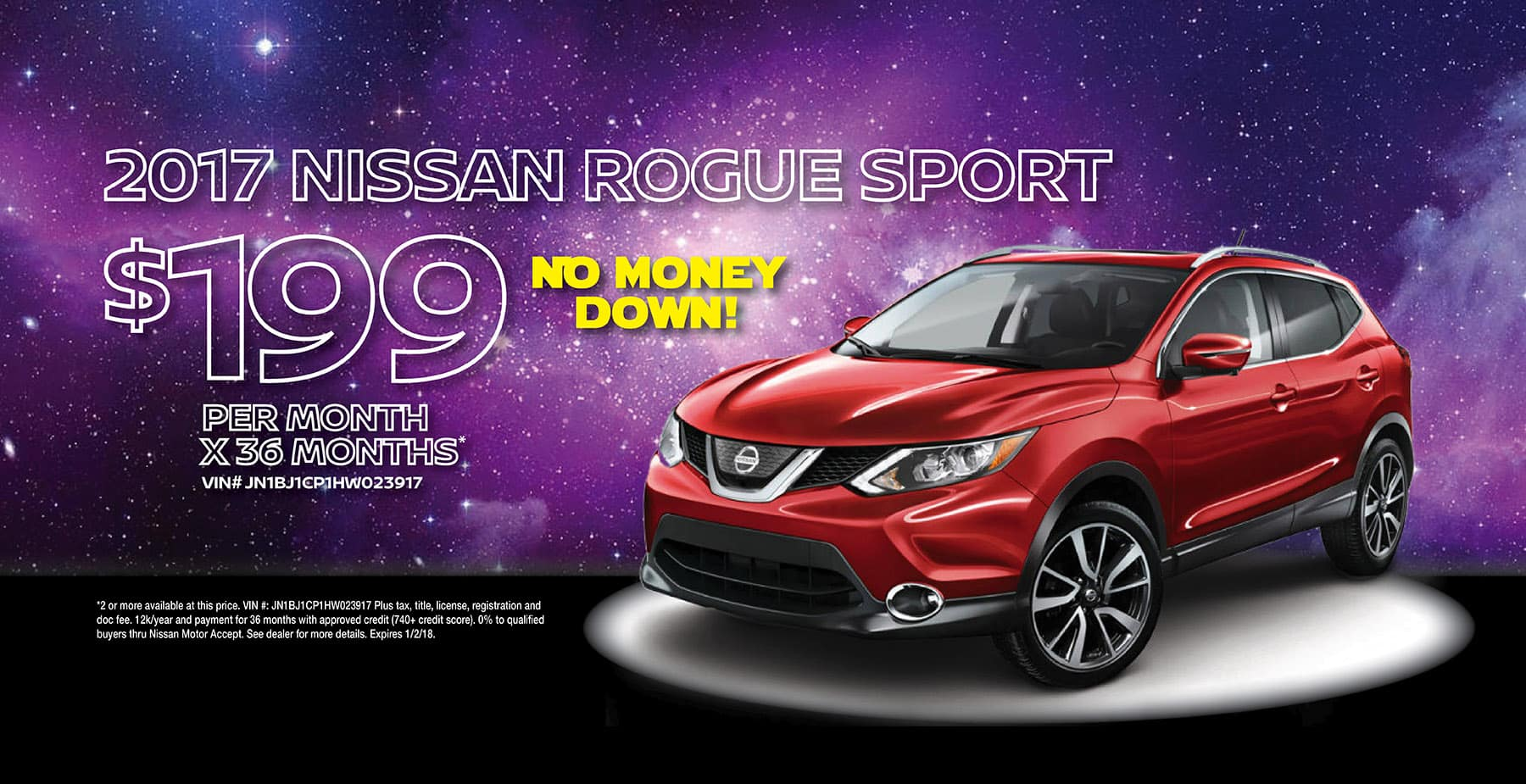 2017 Nissan Rogue Sport December Holiday Sale at Star Nissan