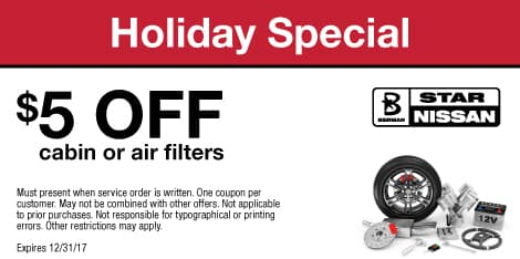 Holiday Special $5 OFF cabin or air filters