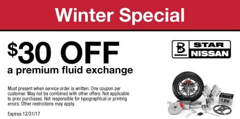 Winter Special $30 OFF a premium fluid exchange
