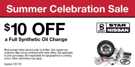 Summer Celebration Sale: $10 OFF a Full Synthetic Oil Change