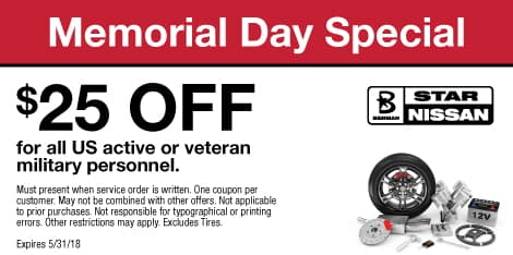 Memorial Day Special: $25 OFF for all US active or veteran military personnel