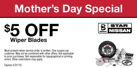 Mother's Day Special: $5 OFF Wiper Blades