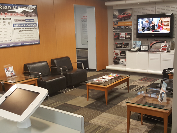 Express Service Customer Lounge Area at Star Nissan
